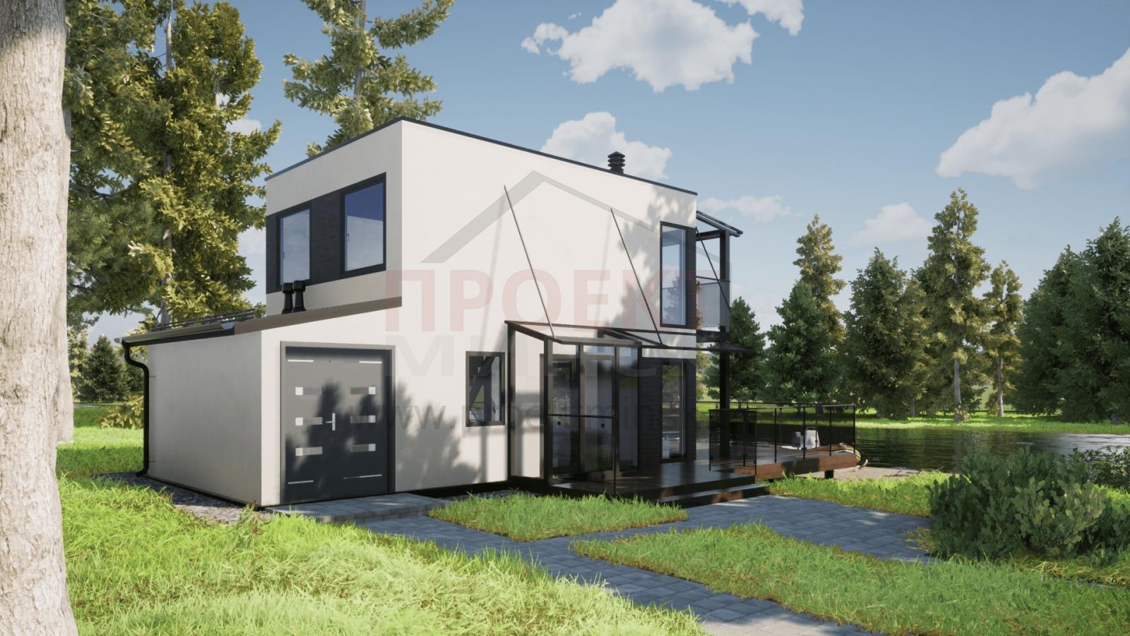 готовые проекты домов hi tech