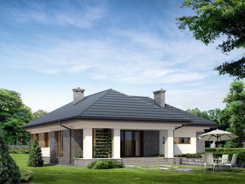 Проекты одноэтажных блочных домов.