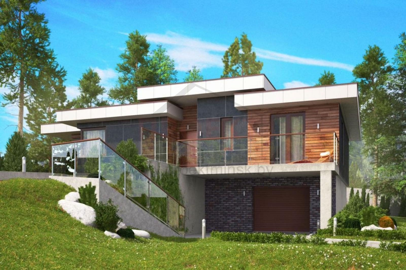 проект дома в стиле hi tech